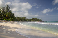 Beach on Praslin, Seychelles