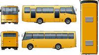 Vector urban passenger mini-bus mock-up