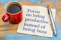 Focus on being productive instead busy