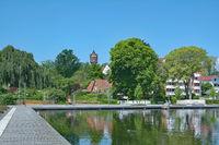 Promenade of Eutin in Holstein Switzerland,Schleswig-Holstein,Germany
