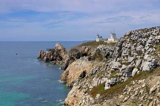 Pointe du Toulinguet.Leuchtturm in der Bretagne - Pointe du Toulinguet.lighthouse in Brittany, France