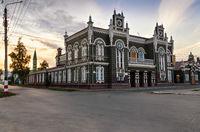 Ancient building of drama theatre, Dimitrovgrad, Ulyanovsk region, Russia