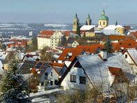 Weingarten with basilika in winter