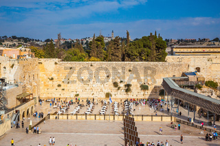 The area of the Western Wall of the Temple