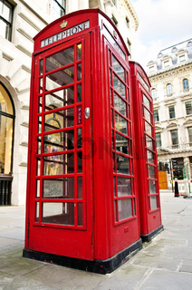 Telephone boxes in London