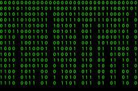 Seamless pattern with binary code