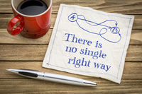 There is no single right way - napkin concept