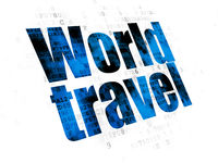 Vacation concept: World Travel on Digital background