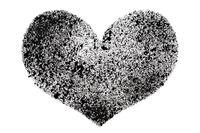 Black stenciled heart