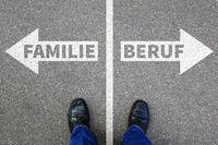 Familie Beruf Kinder Karriere Arbeit Leben Stress Überforderung Erfolg Job Business Konzept