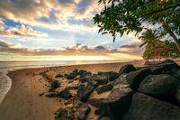 Awesome sunset at Mauritius island