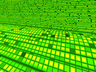 Green Matrix Wave Background