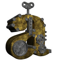 steampunk buchstabe a - 3d illustration