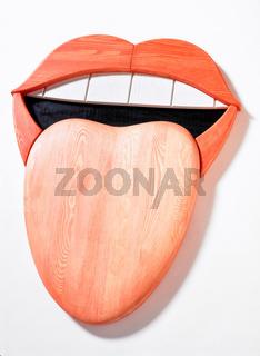 Mund mit Zunge