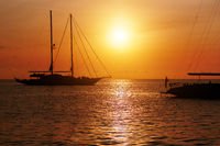 Sunset in Formentera. Balearic Islands. Spain