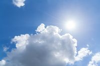 cloudscape with blue sky and sun for backgrounds