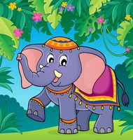 Indian elephant theme image 2 - picture illustration.