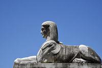 Sphinx, sculpture, Piazza del Popolo square, Rome, Italy, Europe