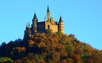 castle, Hohenzollern, germany, swabian alb,