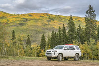 Toyota 4Runner at Kenosha Pass with fall colors
