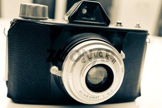 Schräge alte Kamera