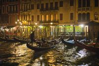 Evening View of Venice near Rialto Bridge