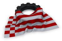 zahnrad und flagge von bremen - 3d rendering