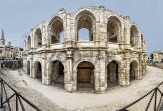 Römisches Amphitheater in Arles, Südfrankreich