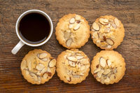 French almond cookies and coffee