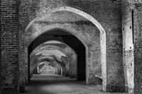 An ancient fortified tunnel in Vigevano