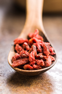 Dried goji berries.