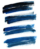 Black-blue bold brush strokes
