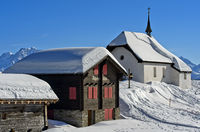 Chapel Kapelle Maria zum Schnee, Bettmeralp, Valais, Switzerland