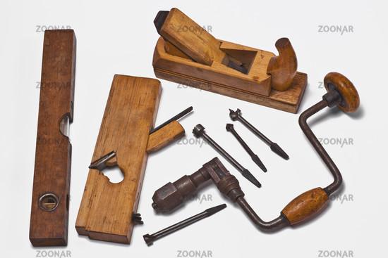 Photo Altes Holzbearbeitungswerkzeug Old Woodworking Tools Image