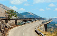 Road to statue of Christ the Redeemer, Maratea, Italy