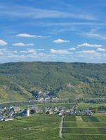 Wine Villages of Beilstein and Ellenz-Poltersdorf in Mosel Valley,Rhineland-Palatinate,Germany