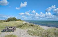 Picnic Area on Fehmarn near Suedstrand,baltic Sea,Schleswig-Holstein,Germany