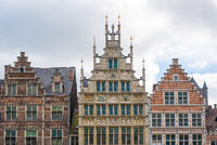 Medieval houses in the old town of Ghent, Belgium.