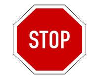 Stoppschild auf weißem Hintergrund - Stop sign on white background