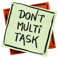 do not multitask reminder note