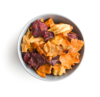 Mixed fried vegetable chips