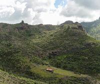 Einsame Hütte im Gebirge von Gran Canaria