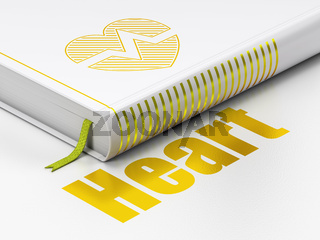 Healthcare concept: book Heart, Heart on white background