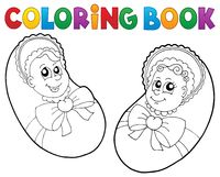 Coloring book baby theme image 6