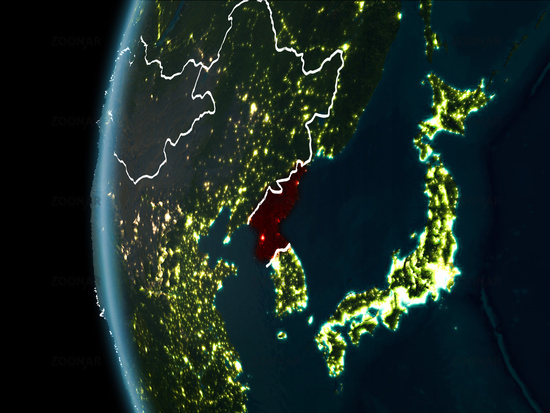 Photo north korea from space at night image 11897987 north korea from space at night gumiabroncs Choice Image