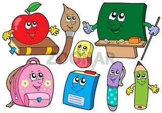 Cartoon school illustrations collections - isolated illustration.