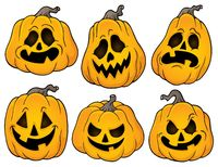 Halloween pumpkins theme set 2 - picture illustration.