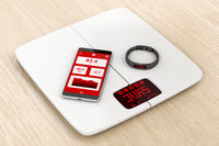 Weight scale, smartphone and activity tracker
