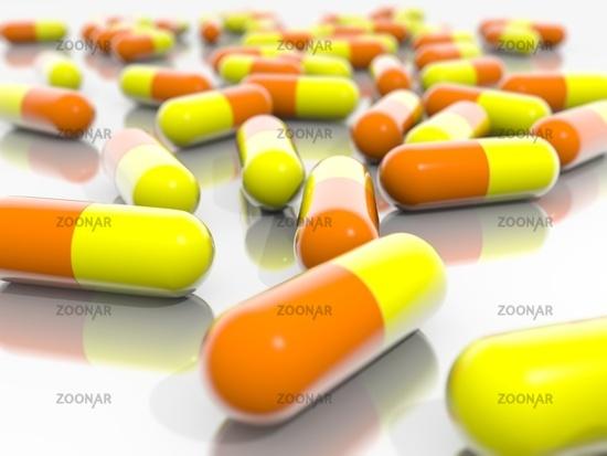 Orange and Yellow Pills