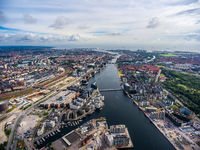 City aerial view over Copenhagen